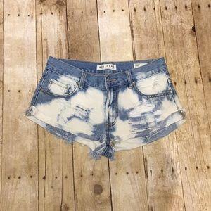 Bullhead Demin High Wasted Slouchy Shorts